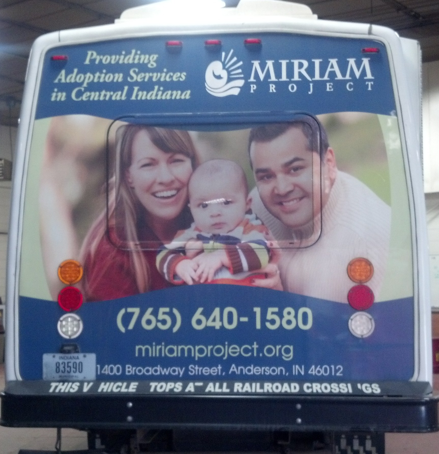 Miriam Project Bus Ad