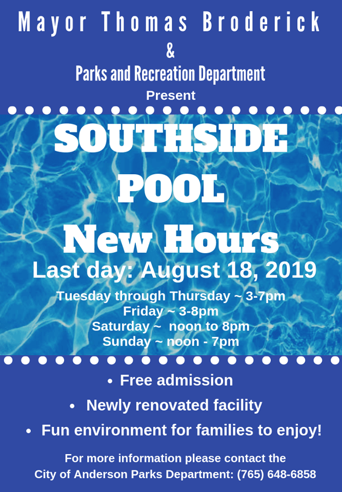 Revised Pool Hours