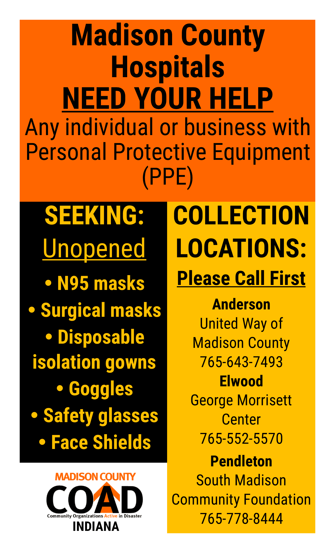 PPE collection drive