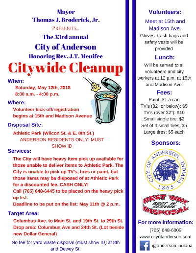 Citywide Clean up Flyer 2018